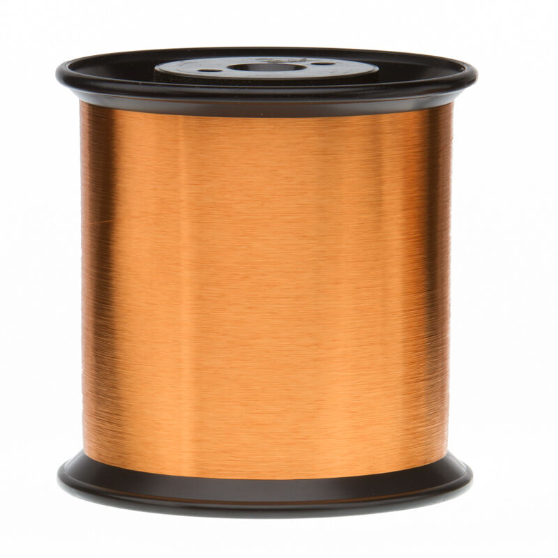 """42 AWG Gauge Heavy Formvar Copper Magnet Wire 5.0 lbs 0.0029"""" 105C Amber MW-15-C"""
