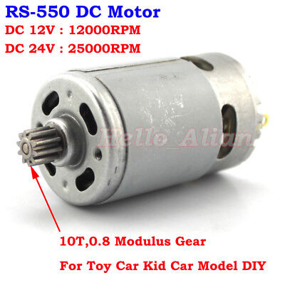 Rs-550 Motor Dc 12v 24v 25000rpm High Speed 10 Teeth Gear Diy Electric Tool