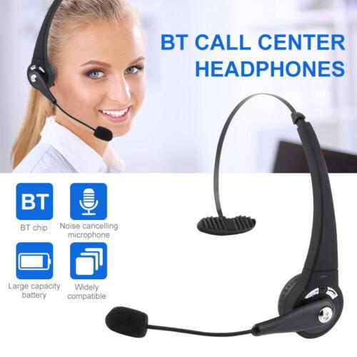 Bluetooth Headset Kabellos Kopfhörer mit Mikrofon KFZ LKW Fahren Büro Handy PC
