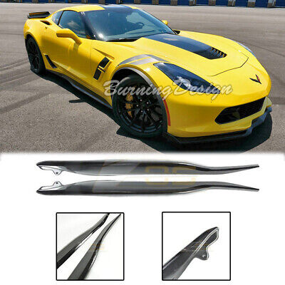 Used, For 14-Up Corvette C7 CARBON FLASH METALLIC Side Skirt Z06 Style Rocker Panels  for sale  Shipping to Canada