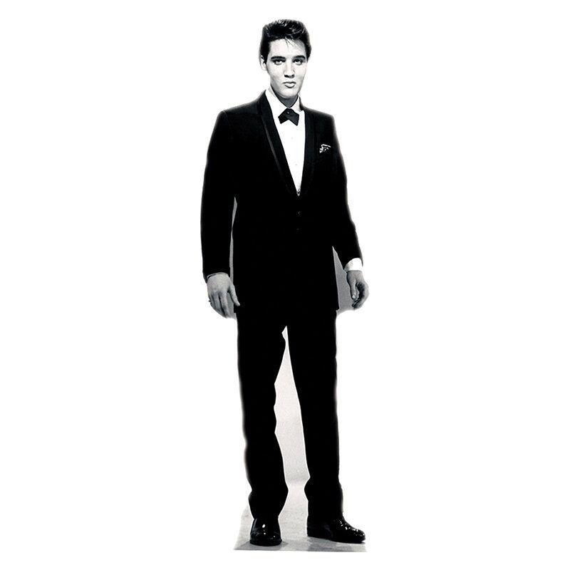 ELVIS PRESLEY Tuxedo Lifesize B & W CARDBOARD CUTOUT Standup Standee Poster F/S
