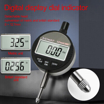 Precision Electronic Digital Dial Indicator 0-12.7mm Industrial Measuring Tool