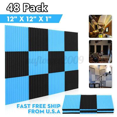48 PACK Acoustic Panels Soundproofing Foam Acoustic Tiles Studio
