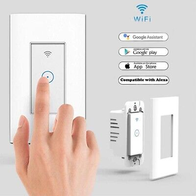 - Smart WiFi Wall Touch Switch For Alexa Google Home App Timing US