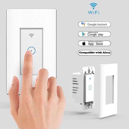 Smart LED Light Dimmer WiFi Wall Touch Switch For Alexa Goog