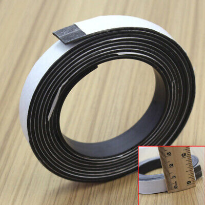 New 2meter Self Adhesive Magnetic Tape Flexible Craft Sticky Magnet Strip