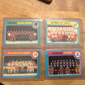 Vintage Hockey Cards 1979-80 Team Checklists - Unmarked