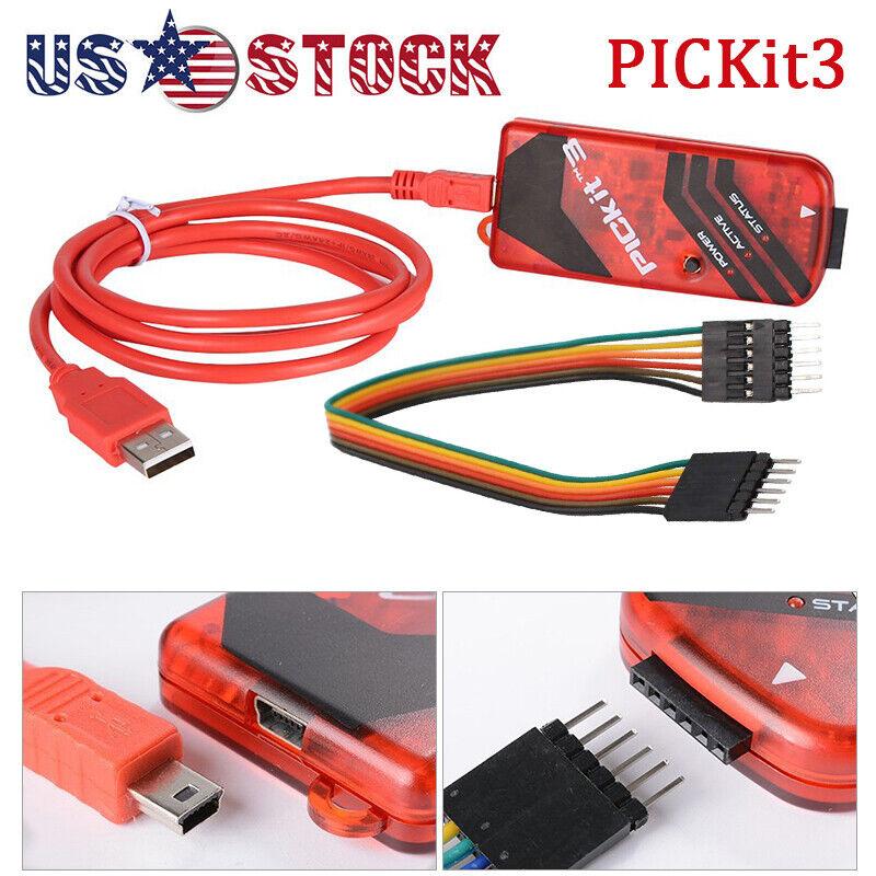 Universal PICKit3 Programmer PIC PICKit 3 Emulator Microchip Debugger Kit