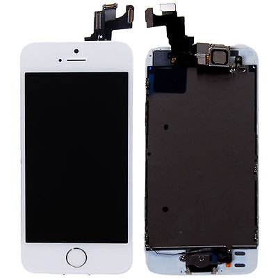White LCD Lens Touch Screen Display Digitizer Replacement Assembly for iPhone 5S on Rummage