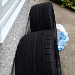 2 Used Summer Tires for sale; CONTISPORT C3 ; 265/40ZR18