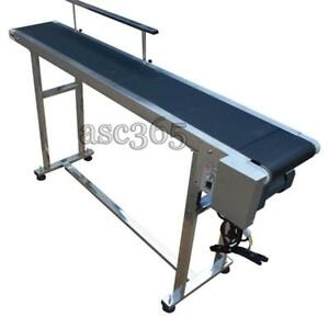 110V Electric Stainless Steel SingleGuardrail Conveyor Belt  Conveyor  Systems 230134