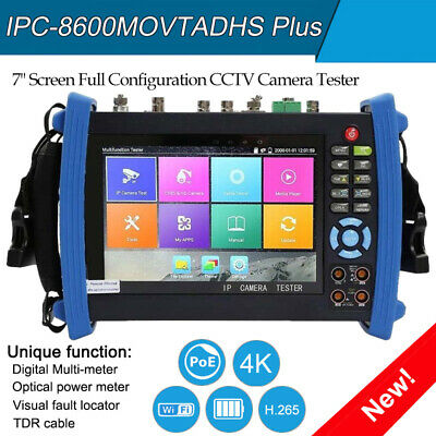 7camera Tester 4k H.265 Ipc-8600movtadhs Plus Full Configuration Wifi Ahd Cvbs