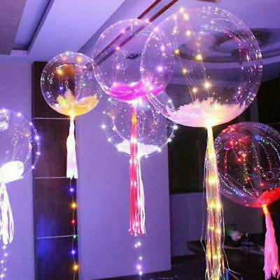 2018 Christmas decoration led string light with transparent helium balloons 18