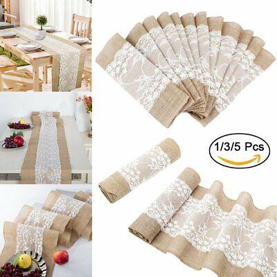 Tischband Läufer Sackleinen Jute Spitze Hochzeit Tischdekor (Sackleinen Hochzeit Dekor)