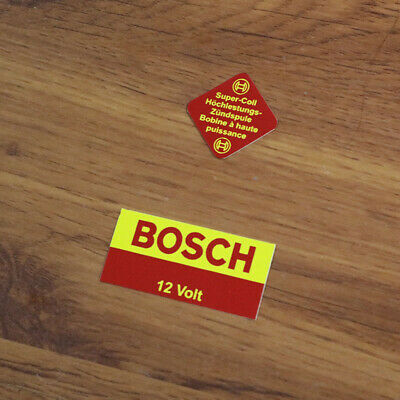 BOSCH Blue ignition coil 12V sticker decals set for BMW VW Porsche Mercedes Opel ()