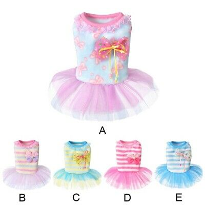 Pet Cat Dog Summer TUTU Skirt Dress Small Puppy Wedding Costume Apparel Clothes