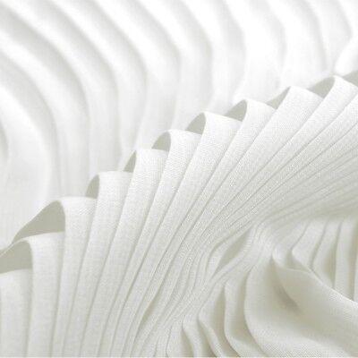 1M Pleated Chiffon Fabric Craft Material Dress Skirt Cloth DIY New White Purple