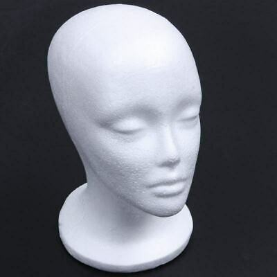 Ladies Foam Mannequin Head Model Hat Wig Jewelry Shop Display Stand Rack White