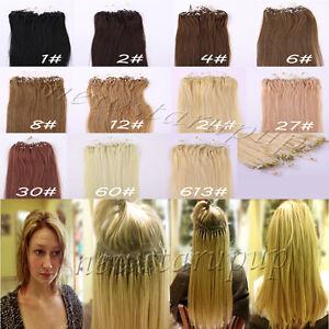 Micro Loops Hair Extensions Ebay 95