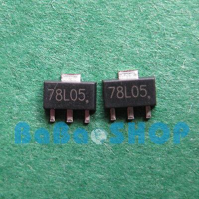 20pcs 78l05 L78l05 7805 Positive-voltage Regulators 5v 100ma Sot-89 Smd New