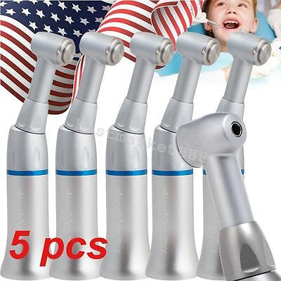 5pcs Dental Push Button Slow Low Speed Contra Angle Handpiece Denshine Usa Ship