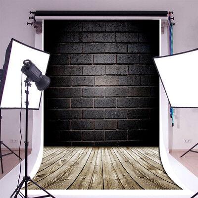 1x1,5M Fotografie Hintergrund Backsteinmauer Holzboden Hintergrund Studio Props ()