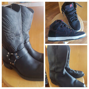Black Leather Boots - Nike Air SB Shoes