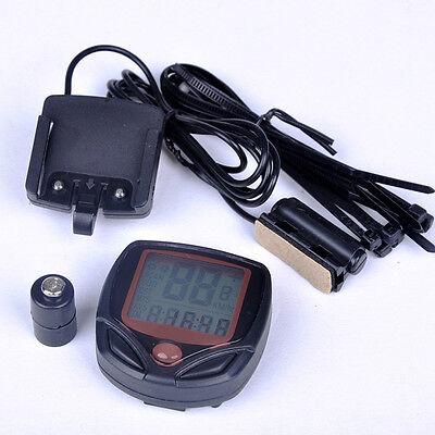 BICI BICICLETTA CICLISMO COMPUTER LCD Tachimetro contachilometri cronometro