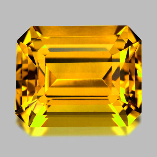 5.12cts DELIGHTFUL EMERALD CUT RICH GOLDEN YELLOW BERYL HELIODOR WATCH VIDEO
