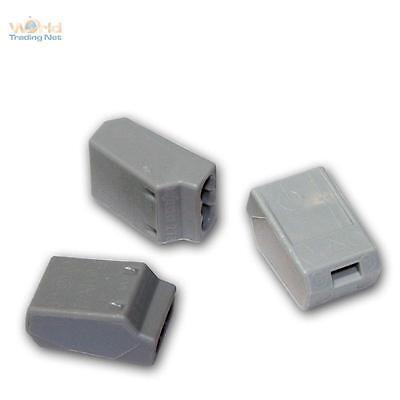 10x WAGO Steckklemmen für 3x1,5 mm² Dosenklemmen grau