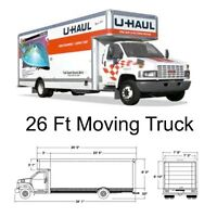 26' Moving truck available for rent!