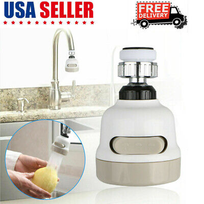 360 Water - Moveable Kitchen Tap Head 360° Rotatable Faucet Water Saving Filter Sprayer US