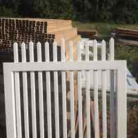 Vinyl gates for fences