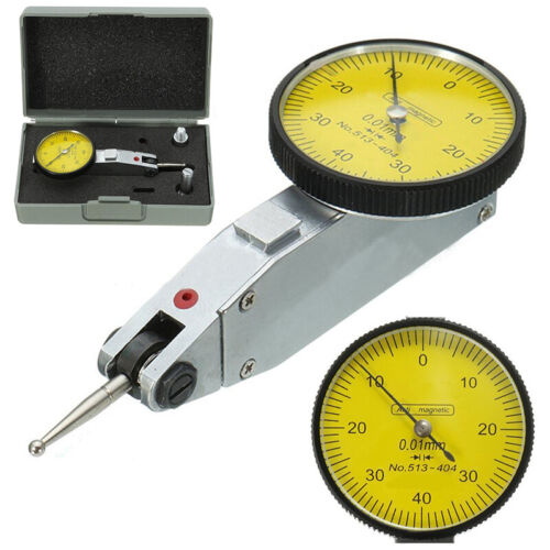 Dial Gauge Test Indicator Metric High Precision with Dovetail Rail 0-40-0 0.01mm