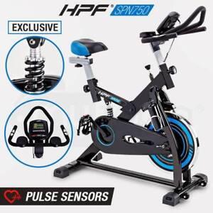 Commercial Spin Bike Flywheel Adjustable Gym Pulse Exercise Home