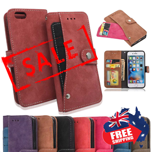 Leather Button Press Stud iPhone 6/6s/7 case / wallet (FREE SHIP) Toorak Stonnington Area Preview