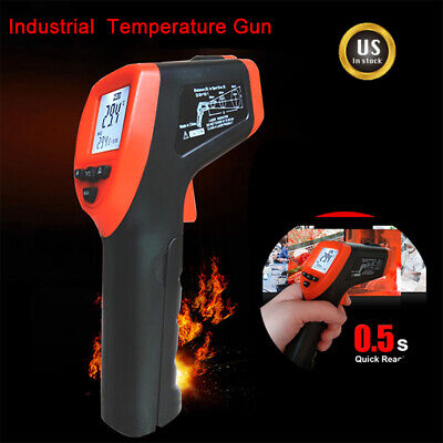 Digital Industrial Infrared Thermometer Laser Temperature Gun Non-contact Lcd Us