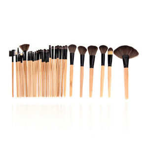 Wood-32-PCS-Makeup-Brush-Set-Pro-Cosmetic-Brushes-Make-Up-Kit-Pouch-Bag-Case