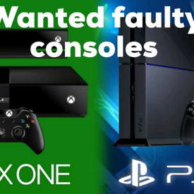 Wanted faulty consoles