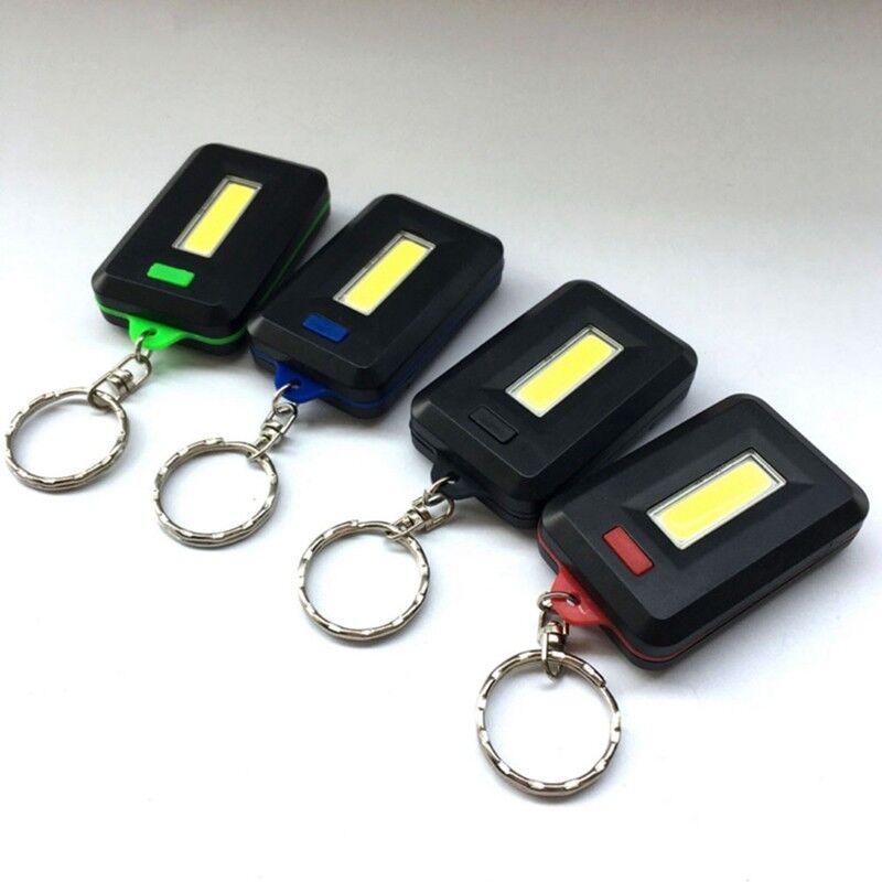 Mini 3Modi Pocket COB Arbeitsscheinwerfer LED Taschenlampe Schlüsselanger