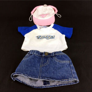 3 Build A Bear Doll Clothes Toronto Blue Jays Shirt Hat Genuine