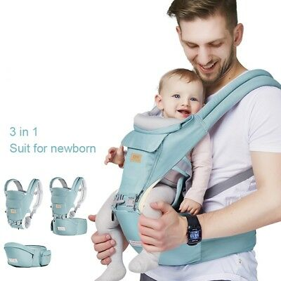 Ergonomic Baby Carrier Infant Kids Hipseat Backpack Front Facing Sling (Front Facing Baby Carriers)