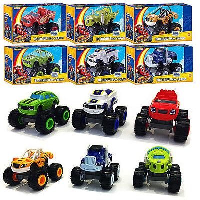 Blaze and the Monster Machines Vehicles-Blaze & Crusher & ZEG & PICKLE Toy gift (Monster Machine)