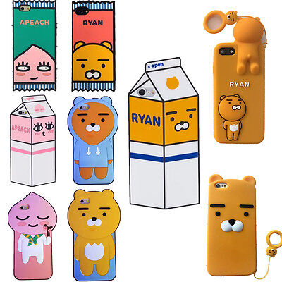 2017 3D Kakao Apeach Ryan Soft Silicone Phone Case Cover For Iphone 5 6 7 8 Plus