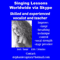 Singing lessons worldwide via skype