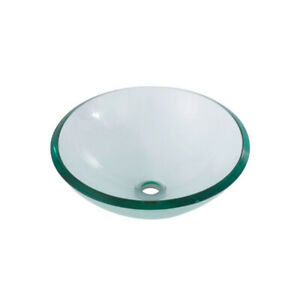 Aquabrass GC191 Round Clear Tempered Glass Basin