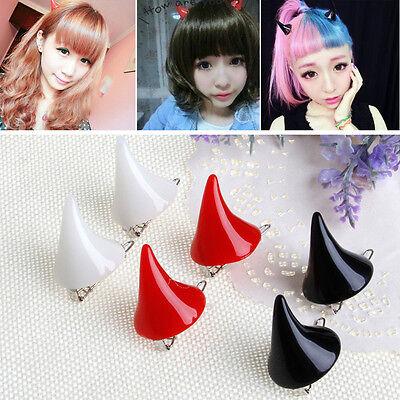 1 pair Stereo Devil Horn Ear Clip Chic Halloween Cosplay Hair Clip Hairpin