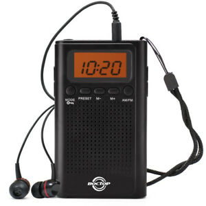 Pocket Radio, Digital AM/FM Radio with Clear Speaker, LCD Screen
