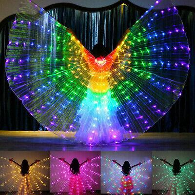 Kinder LED Wings Bauchtanz Lichter zeigen Jungen Mädchen - Bauchtanz Kostüme Grün
