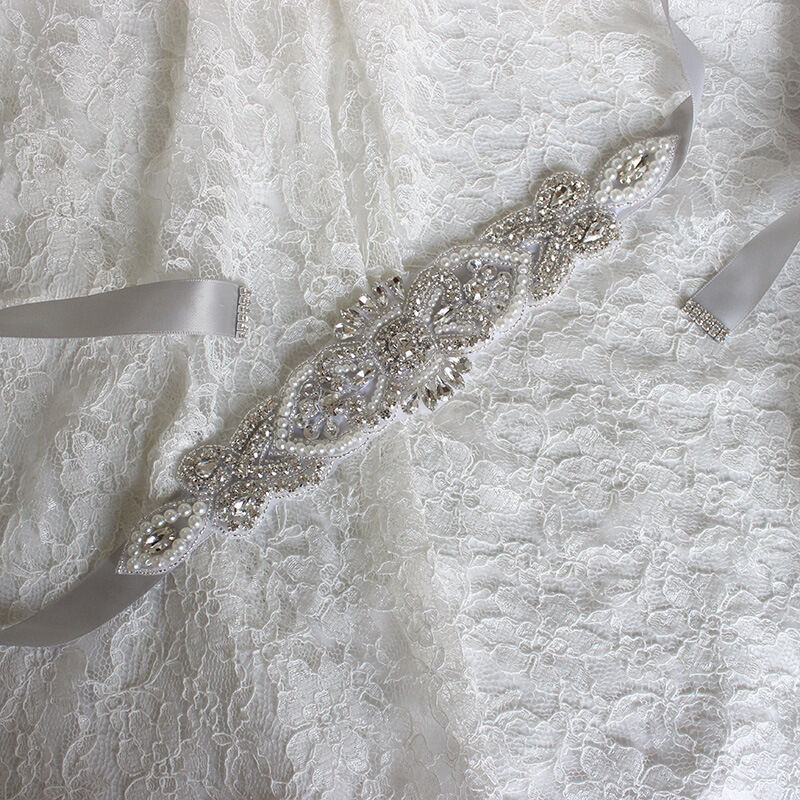 Crystal sashes for wedding, Wedding Bridal Belt, Braided